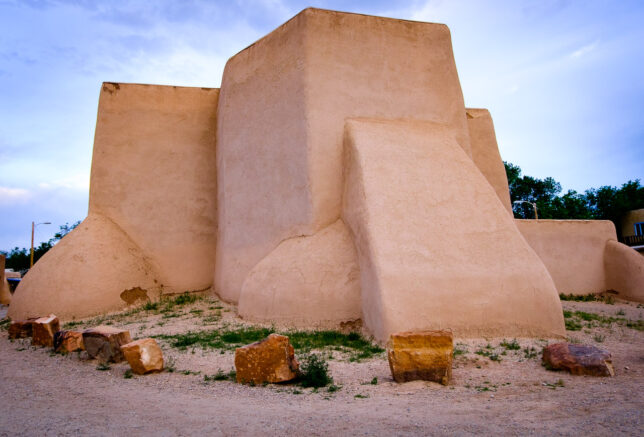 The back of the San Francisco de Asís Mission Church faces the road, and the parking lot there is home to a steak house. It is a handsome structure, but I am not as impressed with it as Ansel was.