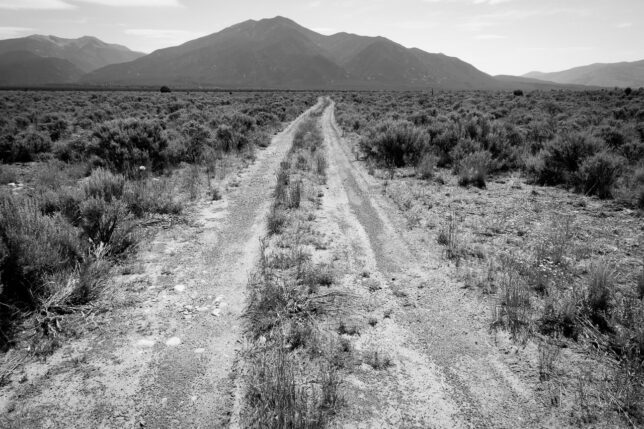 This is one of my quintessential images of New Mexico; a lonely road that seems to disappear into nowhere.
