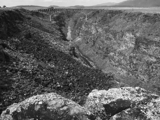 I saw, and crossed, the Rio Grande Gorge Bridge first in 1982.