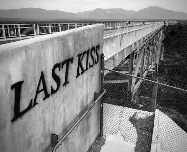 I don't know who made this bold tag on the Rio Grande Gorge Bridge, but it was fresh.