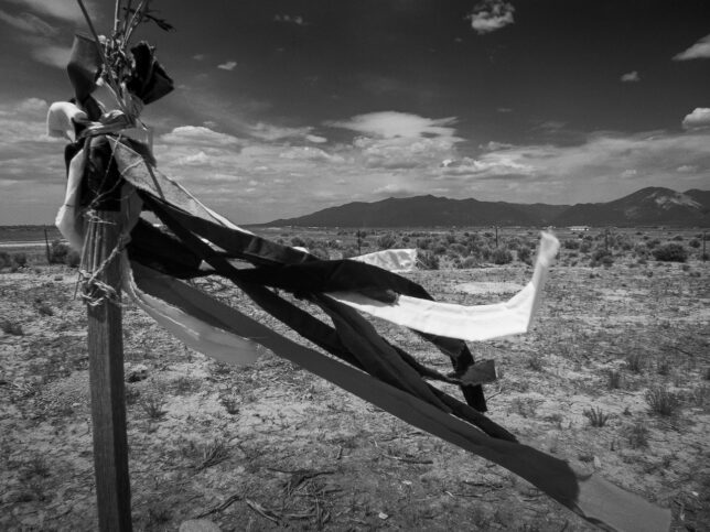 I spotted this makeshift roadside memorial on U.S. 64 near the Rio Grande Gorge.