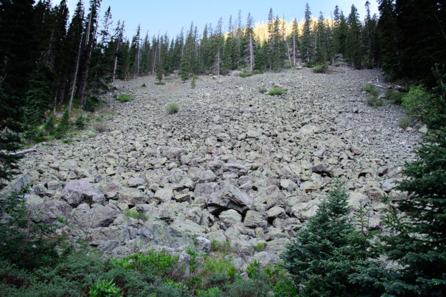 Not far from the Williams Lake trail head, we came across this beautiful rockfall.