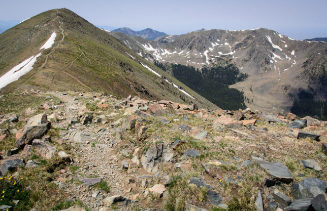 This view from Mount Walter shows Wheeler Peak on the left.