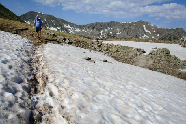 Despite it being the first full day of summer, there were still several sections of snow to cross on the Wheeler Peak trail.