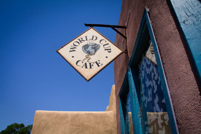 I love a good cup of coffee, but I'd had my fill by the time I passed this Taos cafe.
